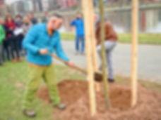 Pflanzung des Ersten Tree of Memory für David in Frankfurt am Main