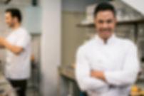 Male chef in restaurant