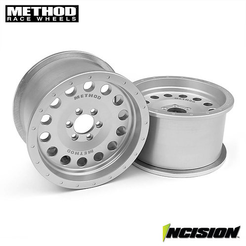 """Vanquish Incision Method 2.2"""" MR307 Clear Anodized Wheels. (Pair)"""