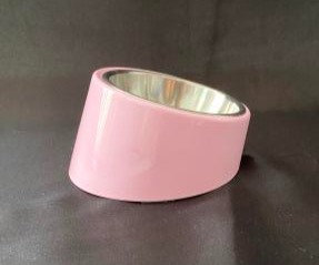 Pet Bowl with Tilted Stand - Pink
