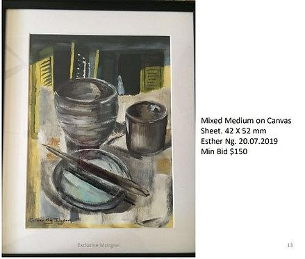 Mixed Medium on Canvas  (42 x 52 cm)