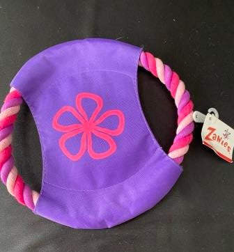Zanies Carolina Collection Rope Flyer Dog Toy PINK