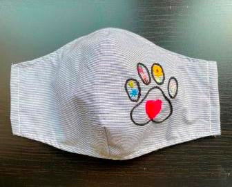 Mask -  Paw Embroidery