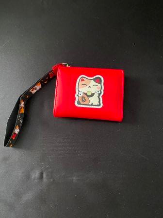Red Purse with Fortune Cat