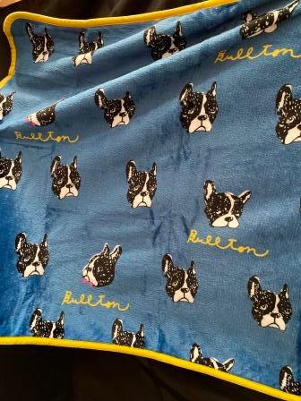 Towel Blanket - Pug Prints