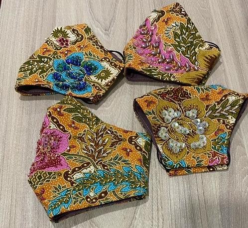 Batik Hand-Beaded Masks