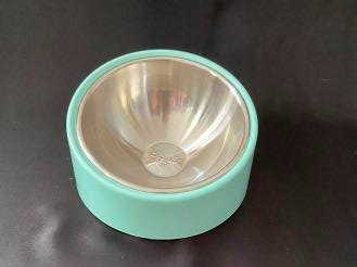 Pet Bowl with Tilted Stand -Turquoise