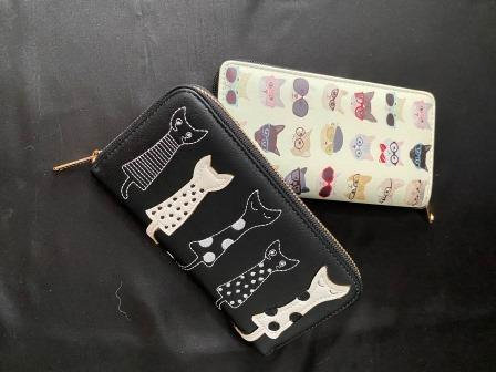 Long Purse with Cat prints
