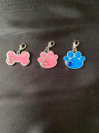 Paw or Bone Shaped Charms