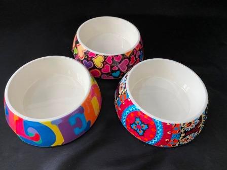 Colourful Melamine Pet Bowls