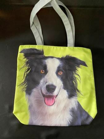 Tote  Bag with Border Collie Print