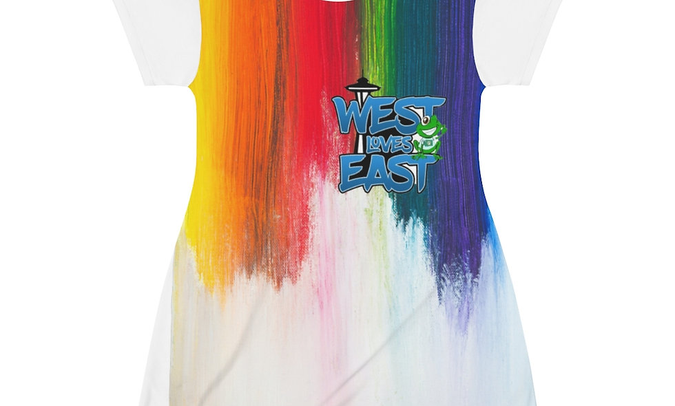 All Over Print T-Shirt Dress