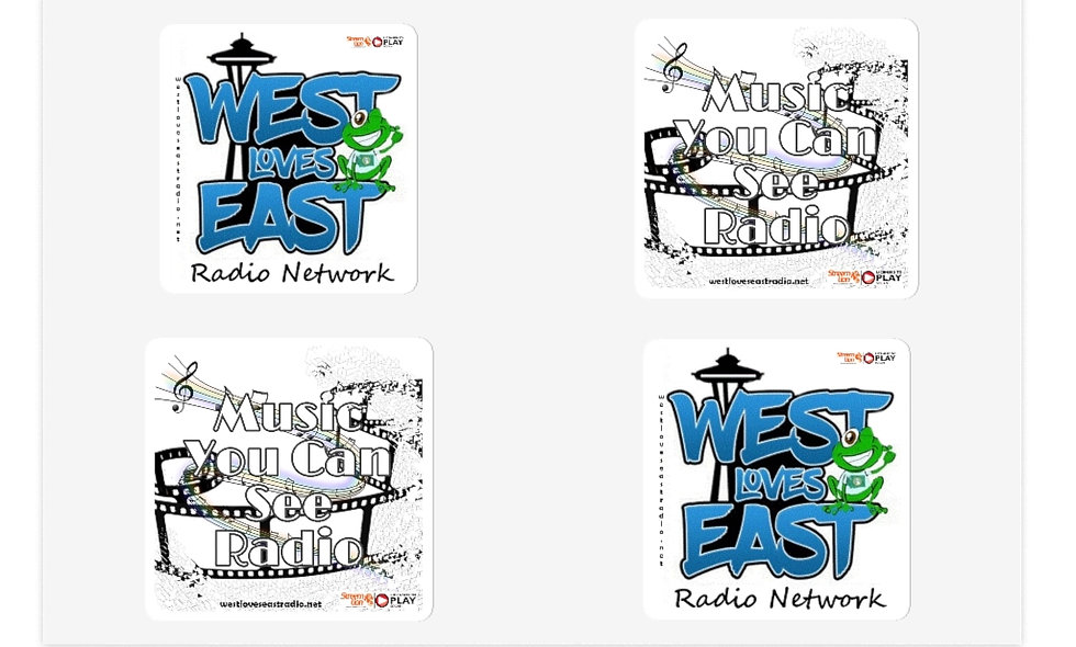 West Loves East & Music You Can See Stickers