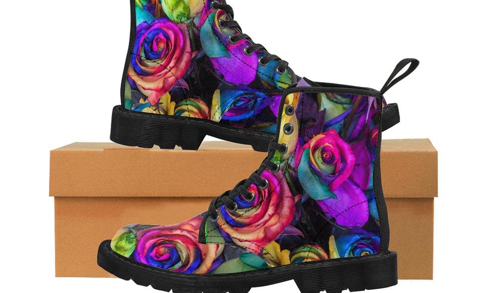 RainbowRosie Canvas Boots