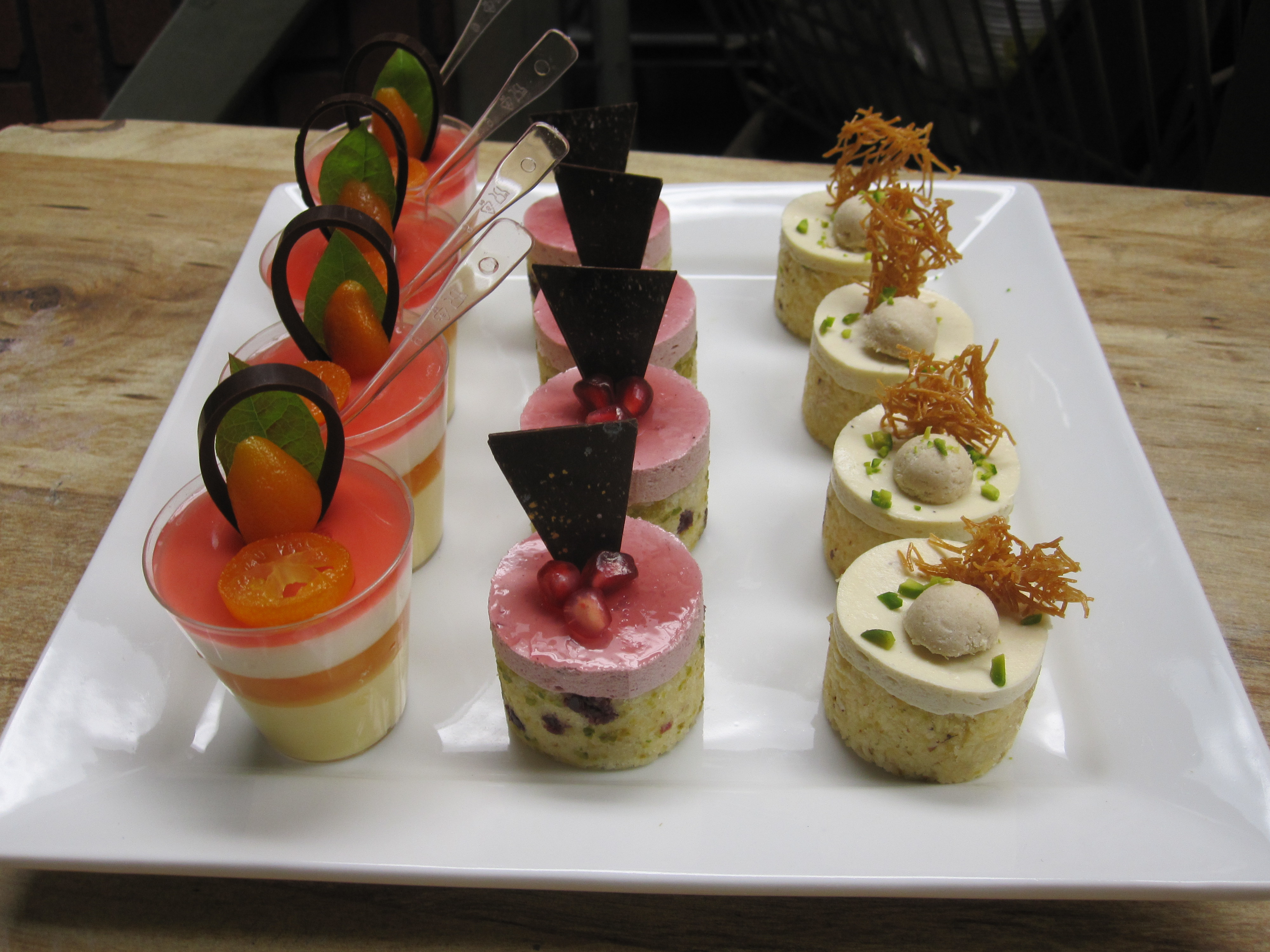 Platted Petits Fours