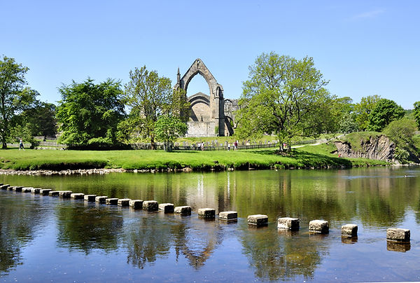 Bolton Priory and stepping stones, Bolto