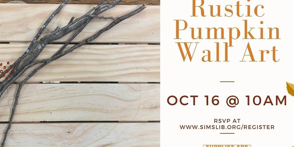 Adult Craft - Pumpkin Wall Art