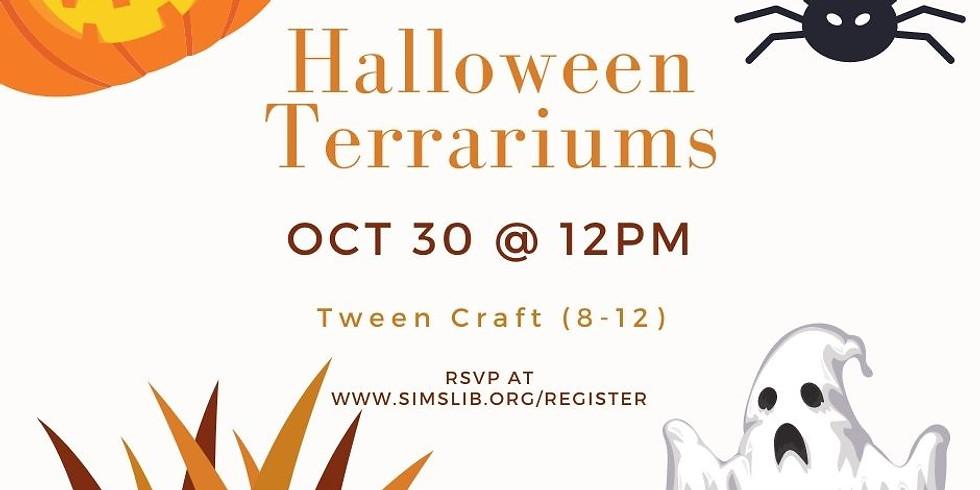 Tween Craft - Halloween Terrariums
