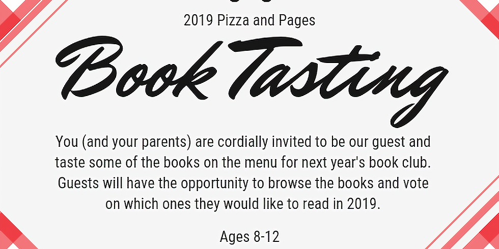 2019 Pizza & Pages: Book Tasting