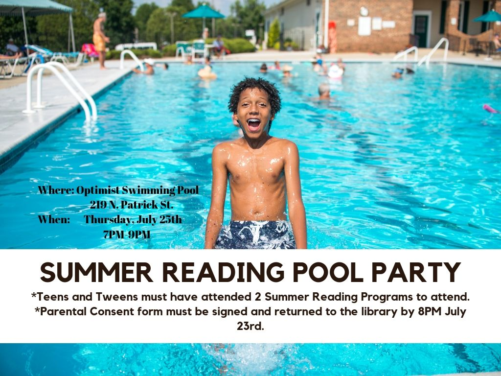 Summer Reading Swim Party for Teens/Tweens