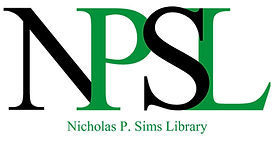 NPSL - Nicholas P. Sims Library Logo