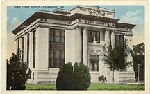 Image of the Original 1905 Building of Sims Library