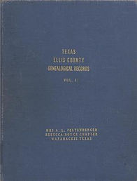 Ellis County Records by the Daughters of the American Revolution
