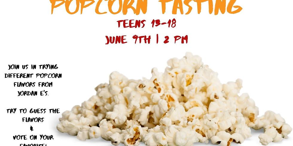 Teen Popcorn Tasting