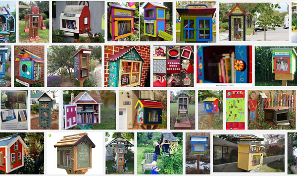 Collage of Little Free Libraries