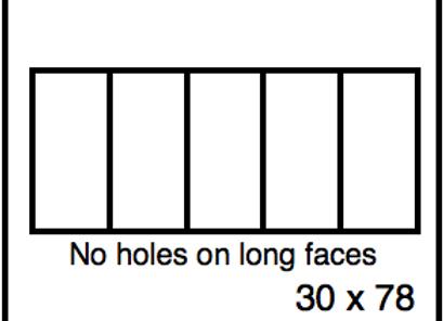 Rectangular Benchwork – 30 x 78