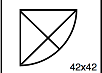 Outside Corner – 42 x 42