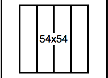 Rectangular Benchwork – 54 x 54