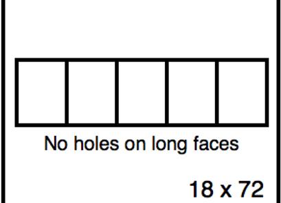 Rectangular Benchwork – 18 x 72