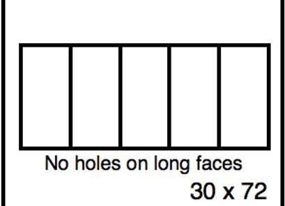 Rectangular Benchwork – 30 x 72