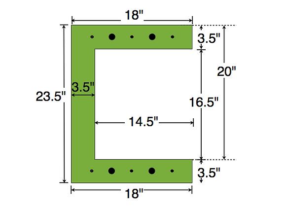 Dual Deck Bracket 18″ – 18″, bundle of 4