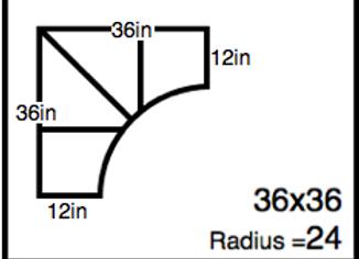 Inside Corner – 36 x 36 – 24R