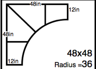 Inside Corner – 48 x 48 -36R