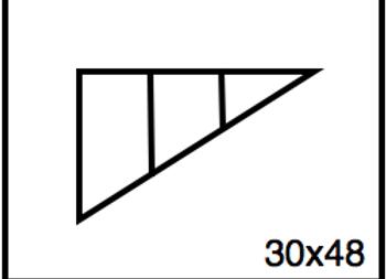 Triangular Benchwork – 30 x 48