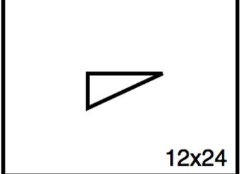 Triangular Benchwork – 12 x 24