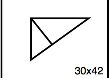 Triangular Benchwork – 30 x 42