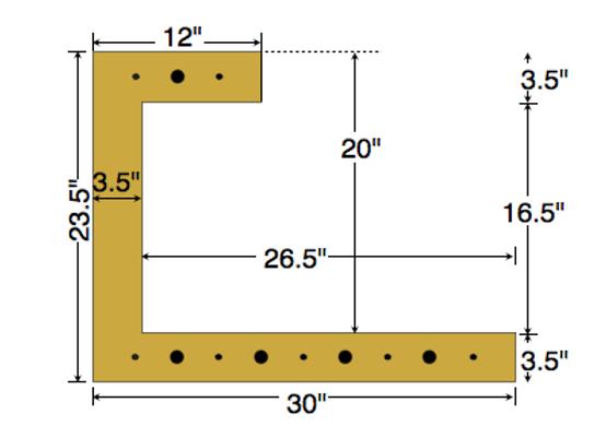 Dual Deck Bracket 30″ – 18″, bundle of 4