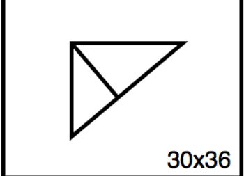 Triangular Benchwork – 30 x 36