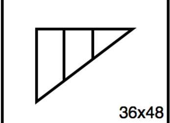 Triangular Benchwork – 36 x 48