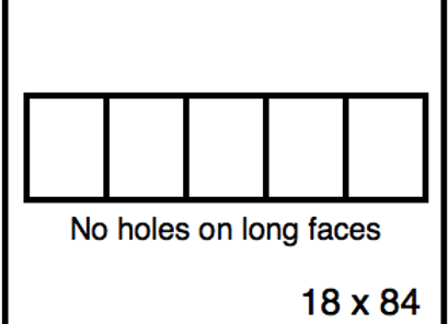 Rectangular Benchwork – 18 x 84