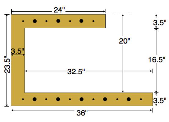 Dual Deck Bracket 36″ – 24″, bundle of 4