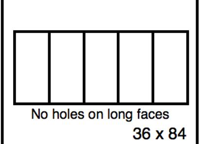 Rectangular Benchwork – 36 x 84