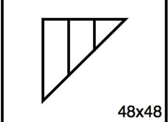 Triangular Benchwork – 48 x 48