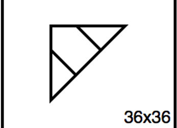 Triangular Benchwork – 36 x 36