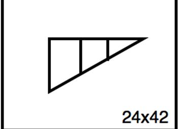 Triangular Benchwork – 24 x 42