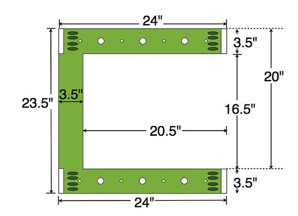Dual Deck Bracket (Notched) 24″ – 24″, bundle of 4